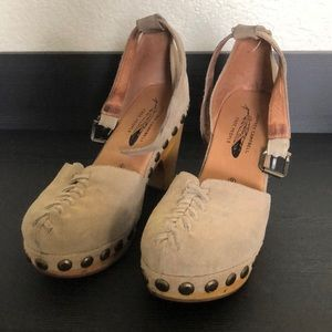 Jeffrey Campbell for Free People Suede Clogs